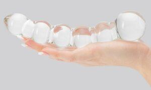 Beaded-glass-dildo